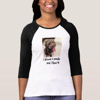 T-shirt J'ai embrassé un caniche