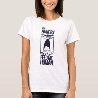T-shirt j'ai faim m'alimente humain