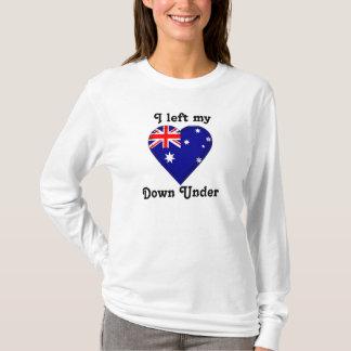 T-shirt J'ai laissé mon coeur vers le bas dessous