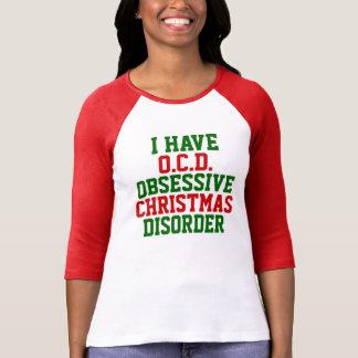T-shirt J'ai le raglan de désordre d'O.C.D. Obsessive