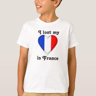 T-shirt J'ai perdu mon coeur en France