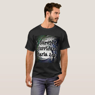 T-shirt J'ai survécu à la chemise 2017 de Maria d'ouragan