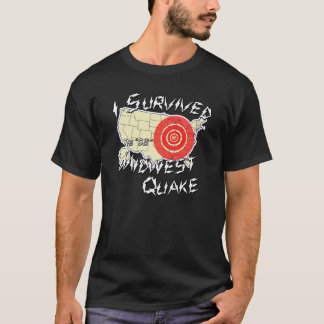 T-shirt J'ai survécu à la chemise de tremblement de