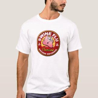 T-shirt J'ai survécu à la grippe de porcs - H1N1