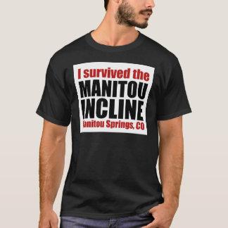 T-shirt J'ai survécu à la pente de Manitou