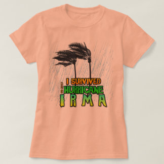 T-shirt J'ai survécu à la pluie d'Irma d'ouragan