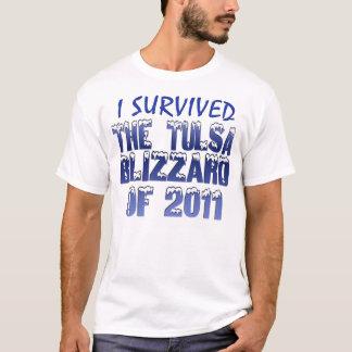 T-shirt J'ai survécu à la tempête de neige de Tulsa