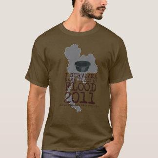 T-shirt J'ai survécu à l'inondation 2011 de Soi 69