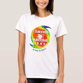 T-shirt J'AI SURVÉCU À L'OURAGAN IRMA à votre emplacement