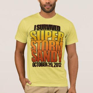 T-shirt J'ai survécu à l'ouragan superbe Sandy de tempête
