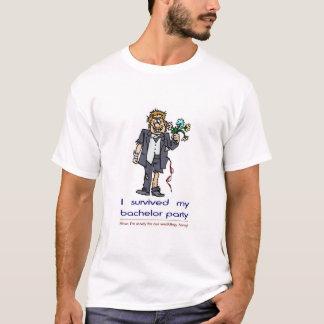 T-shirt J'ai survécu à mon enterrement de vie de jeune