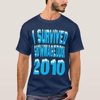 T-shirt J'ai survécu à Snowmageddon