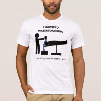 T-shirt J'ai survécu à Waterboarding