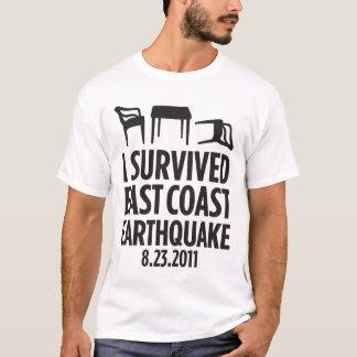T-shirt J'ai survécu au tremblement de terre de Côte Est