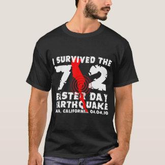 T-shirt J'ai survécu au tremblement de terre de jour de