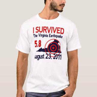 T-shirt J'ai survécu au tremblement de terre de la