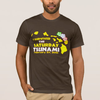 T-shirt J'ai survécu au tsunami de samedi