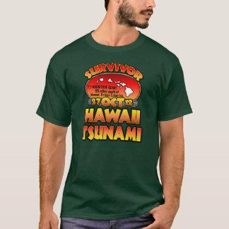 T-shirt J'ai survécu au tsunami d'Hawaï le 27 octobre 2012