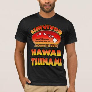 T-shirt J'ai survécu au tsunami d'Hawaï le 3 mars 2011