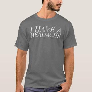 T-shirt j'ai un mal de tête