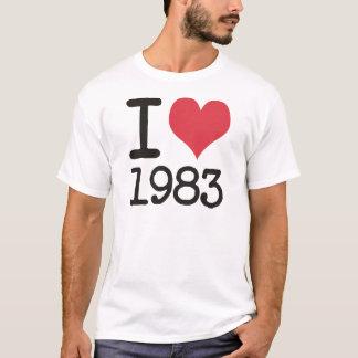 T-shirt J'aime 1983 produits et conceptions !