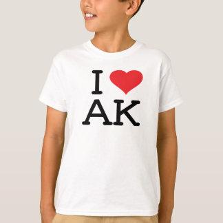 T-shirt J'aime AK - coeur - les enfants T