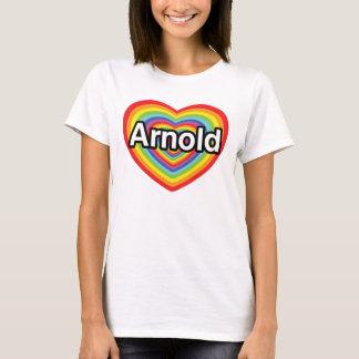 T-shirt J'aime Arnold, coeur d'arc-en-ciel