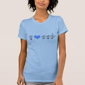T-shirt J'aime ASL (la langue des signes américaine)