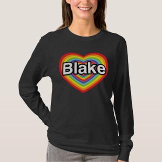 T-shirt J'aime Blake : coeur d'arc-en-ciel
