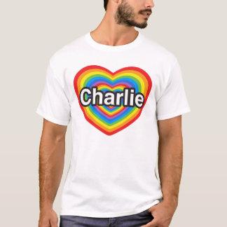 T-shirt J'aime Charlie. Je t'aime Charlie. Coeur
