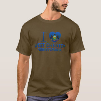 T-shirt J'aime Chester occidental, PA