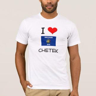 T-shirt J'aime Chetek le Wisconsin