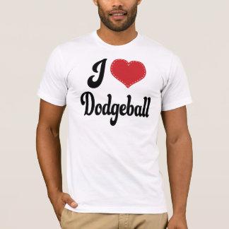 T-shirt J'aime (coeur) Dodgeball