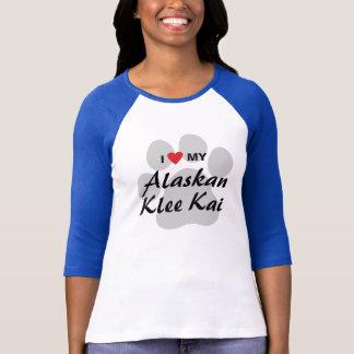 T-shirt J'aime (coeur) mes amants d'Alaska de Klee Kai