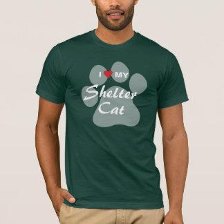 T-shirt J'aime (coeur) mon chat d'abri