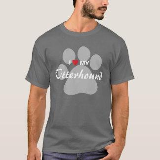 T-shirt J'aime (coeur) mon Otterhound