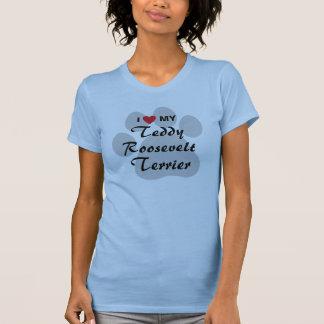 T-shirt J'aime (coeur) mon Teddy Roosevelt Terrier