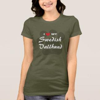 T-shirt J'aime (coeur) mon Vallhund suédois