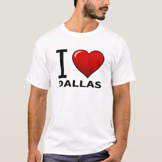 T-SHIRT J'AIME DALLAS, TX - LE TEXAS