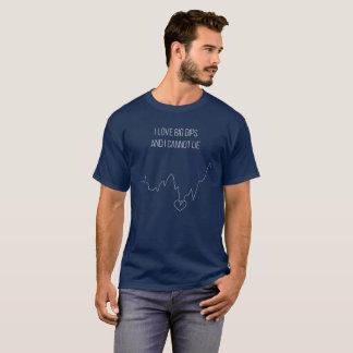 T-shirt J'aime de grandes immersions et je ne peux pas me