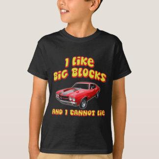 T-shirt J'aime de grands blocs et je ne peux pas me