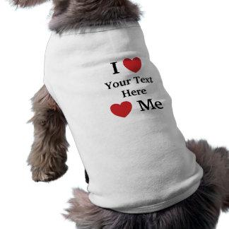 T-shirt J'aime des amours je manteau de chien de