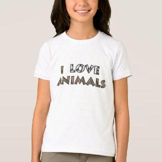 T-shirt J'aime des animaux