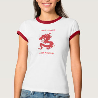 T-shirt J'aime des avocats - avec le ketchup !