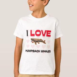 T-shirt J'aime des baleines de bosse
