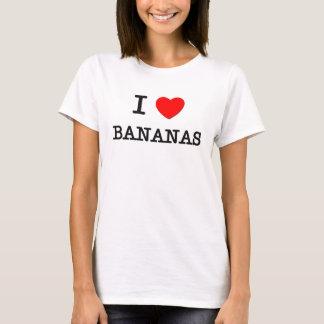 T-shirt J'aime des BANANES (la nourriture)