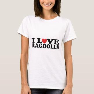 T-shirt J'aime des chats de Ragdoll