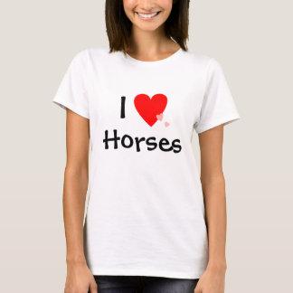 T-shirt J'aime des chevaux (de coeur)