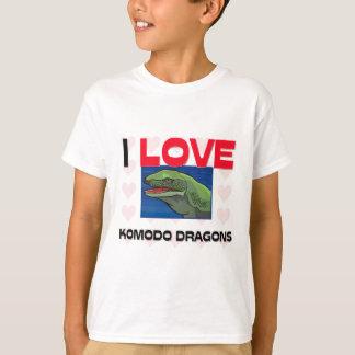 T-shirt J'aime des dragons de Komodo