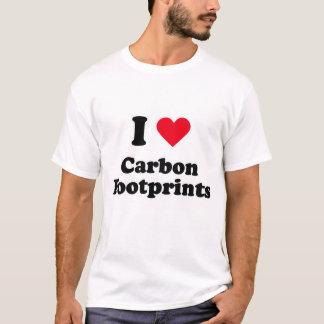 T-shirt J'aime des empreintes de pas de carbone